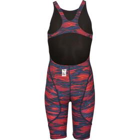 arena Powerskin ST 2.0 LTD Edition Full Body Short Leg Open Back Girls blue-red